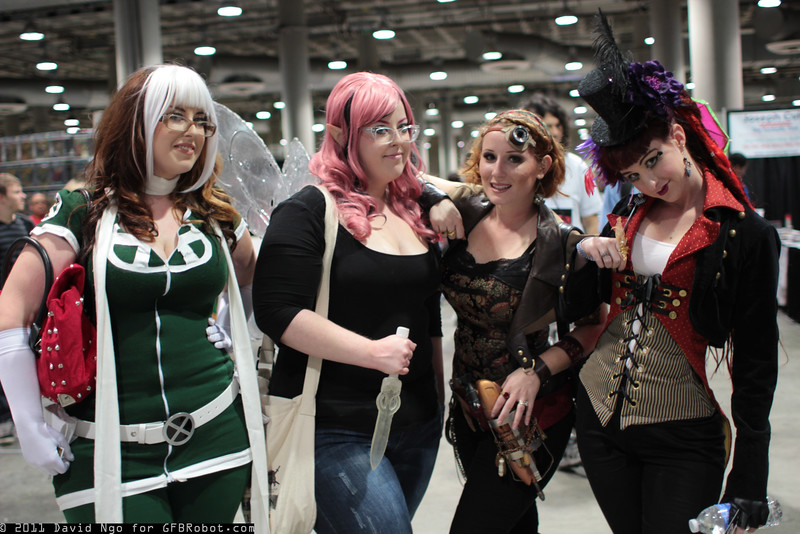 Rogue, Pixie, and Steampunks