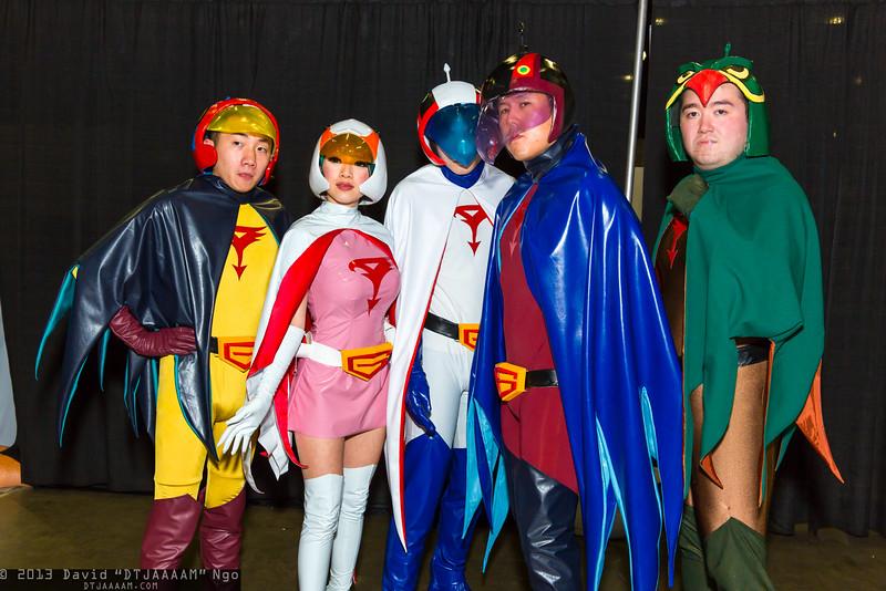 Jimmy the Falcon, Jun the Swan, Ken the Eagle, Joe the Condor, and Rocky the Owl