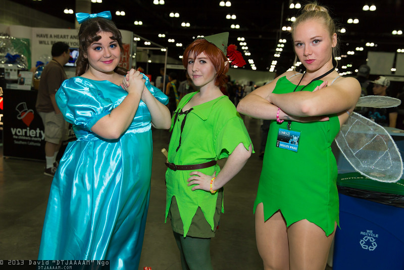Wendy Darling, Peter Pan, and Tinker Bell