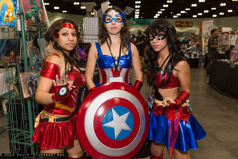 Iron Man, Captain America, and Spider-Girl