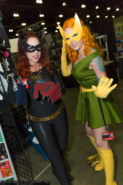 Catwoman and Marvel Girl