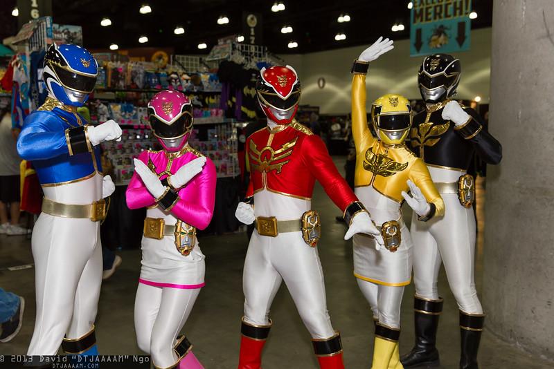 Megaforce Blue, Megaforce Pink, Megaforce Red, Megaforce Yellow, and Megaforce Black