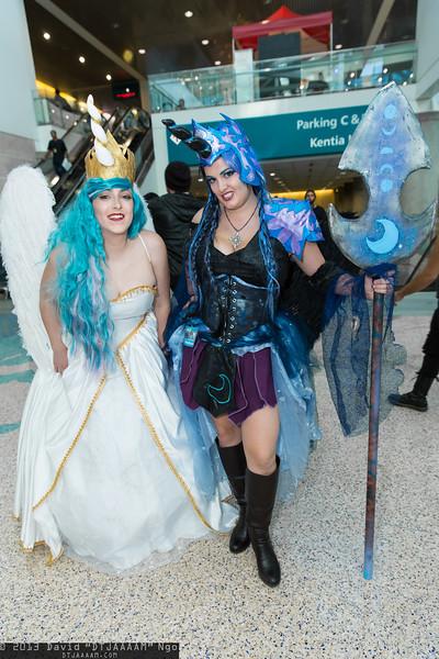 Princess Celestia and Nightmare Moon