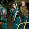 Green Arrow, Merida, and Aquaman