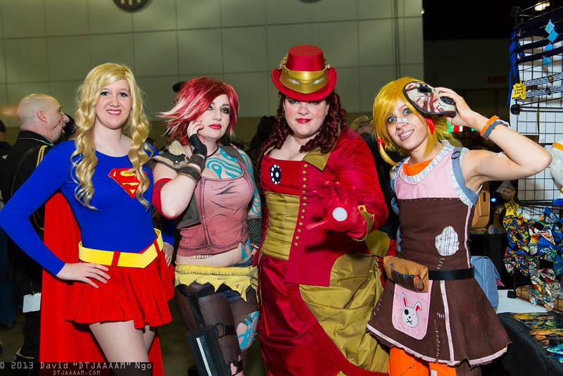 Supergirl, Lilith, Iron Man, and Tiny Tina