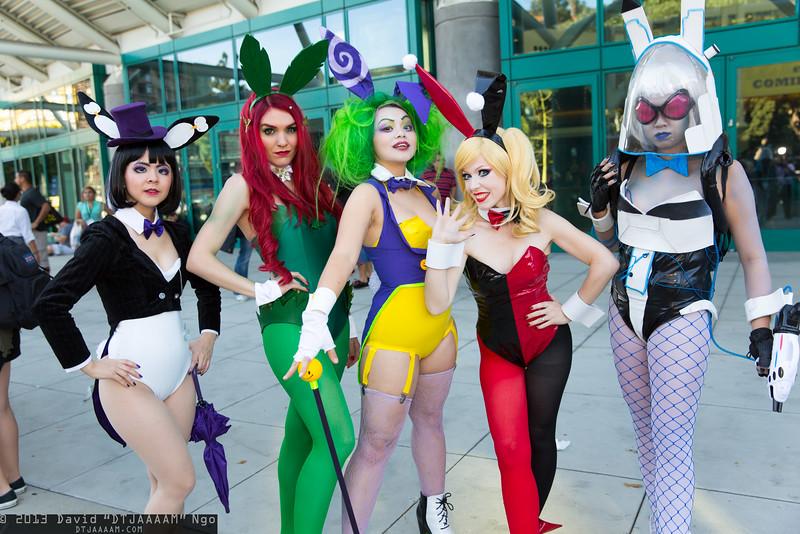 Penguin, Poison Ivy, Joker, Harley Quinn, and Mr. Freeze