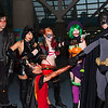 Red Hood, Catwoman, Robin, Harley Quinn, Duela Dent, and Batman