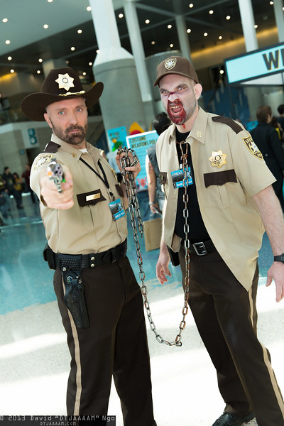 Rick Grimes and Zombie Shane Walsh