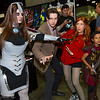 Cyberman, Doctor Who, Amy Pond, and Rory Williams