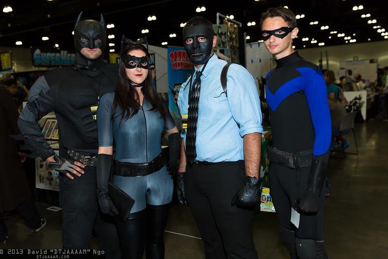 Batman, Catwoman, Black Mask, and Nightwing