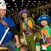 Casey Jones, Donatello, and Leonardo