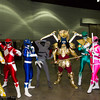Yellow Ranger, Red Ranger, Blue Ranger, Putty Patroller, Goldar, Green Ranger, Pink Ranger, and Black Ranger