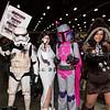 Sandtrooper, Princess Leia Organa, Mandalorian, and Chewbacca