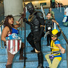 Captain America, Black Panthers, and Wolverine