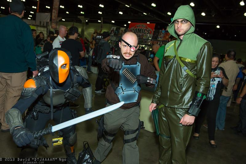 Deathstroke the Terminator, Deadshot, and Green Arrow