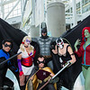 Nightwing, Harley Quinn, Robin, Batman, Bane, and Poison Ivy