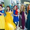Snow White, Belle, Ariel, Briar Rose, and Merida