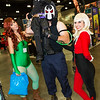 Poison Ivy, Batman, Bane, and Harley Quinn
