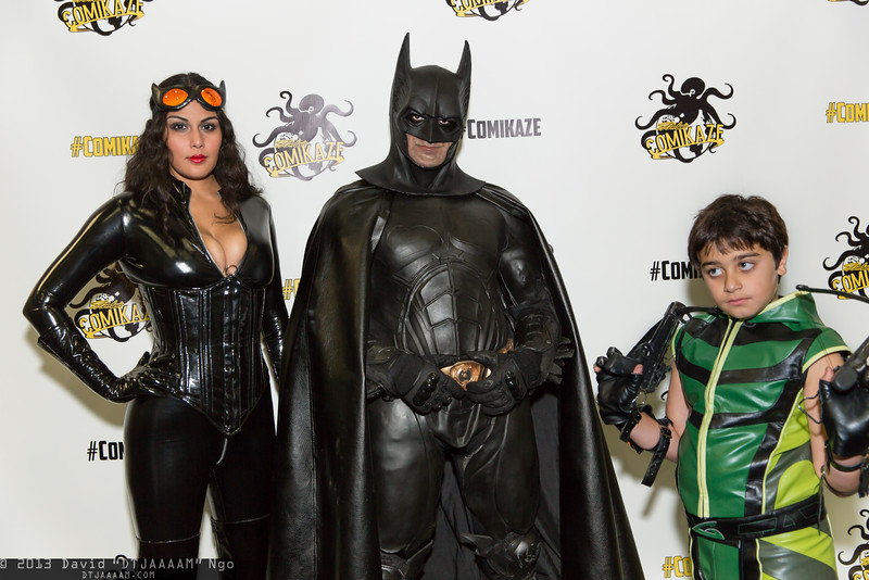 Catwoman, Batman, and Green Arrow