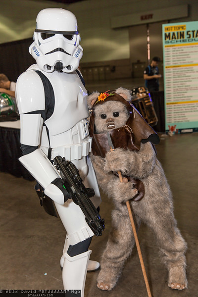 Stormtrooper and Ewok