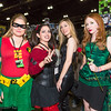 Robin, Harley Quinn, Catwoman, and Poison Ivy