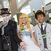 Mad Hatter, Alice, and March Hare