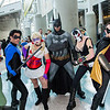 Poison Ivy, Nightwing, Harley Quinn, Batman, Bane, and Robin