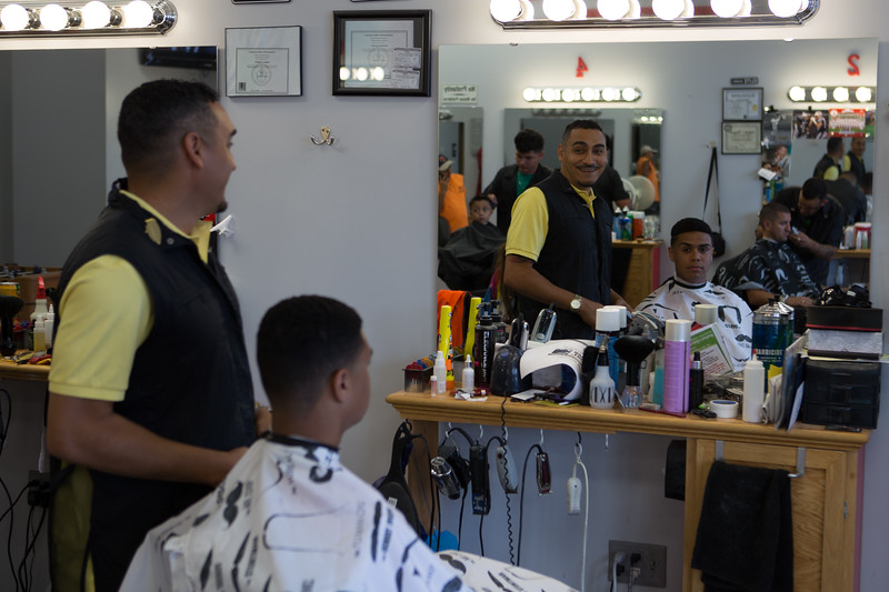 """Luxury Cuts, Leominster.  """"Carlos"""", the owner.  Didn't get his last name."""