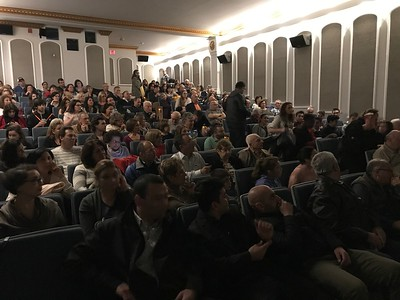 "150 parishioners of Holy Trinity attend a private viewing of ""The Promise"" on April 21"