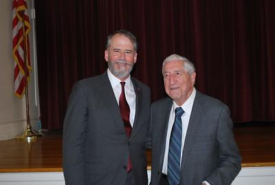Ambassador Evans with Gerald Boghosian
