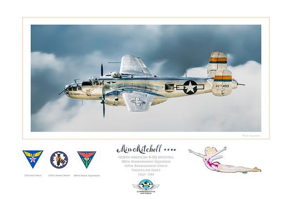 B-25 Miss Mitchell Art Print--12 x 18
