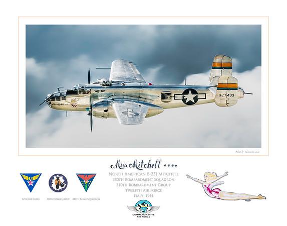B-25 Miss Mitchell Art Print--11 x 14