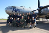 "Members of the CAF Minnesota Wing with the CAF's B-29 Superfortress ""Fifi"".  Photo by Jeremy Dando"