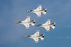 The Thunderbird's signature diamond formation.