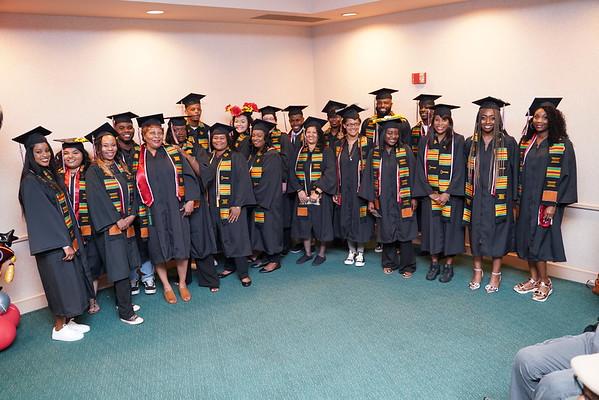 2019 African American Graduates in Umoja sashes.