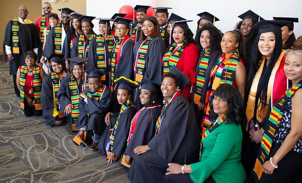 African-American graduates group