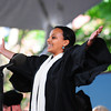 Fanaye Solomon Yirga '13 delivers the Latin Salutatory address during commencement morning exercises.