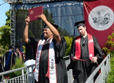 The Chico State commencement ceremony Sunday, May 21, 2017, at University Stadium in Chico, California.  (Dan Reidel -- Enterprise-Record)