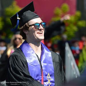 The Chico State commencement ceremony Sunday, May 21, 2017, at University Stadium in Chico, California.  (Dan Reidel -- Enterprise-Record)
