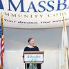 Keynote Speaker Ambassador Burns delivers Commencement Address.