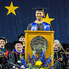 "Class speaker Joseph Slocum speaks of his time at UAF during the commencement ceremony May 8, 2016, at the Carlson Center. Slocum received an undergraduate degree in communication in 2015 and a Master of Business Administration degree in 2016.  <div class=""ss-paypal-button"">Filename: GRA-16-4896-1166.jpg</div><div class=""ss-paypal-button-end""></div>"