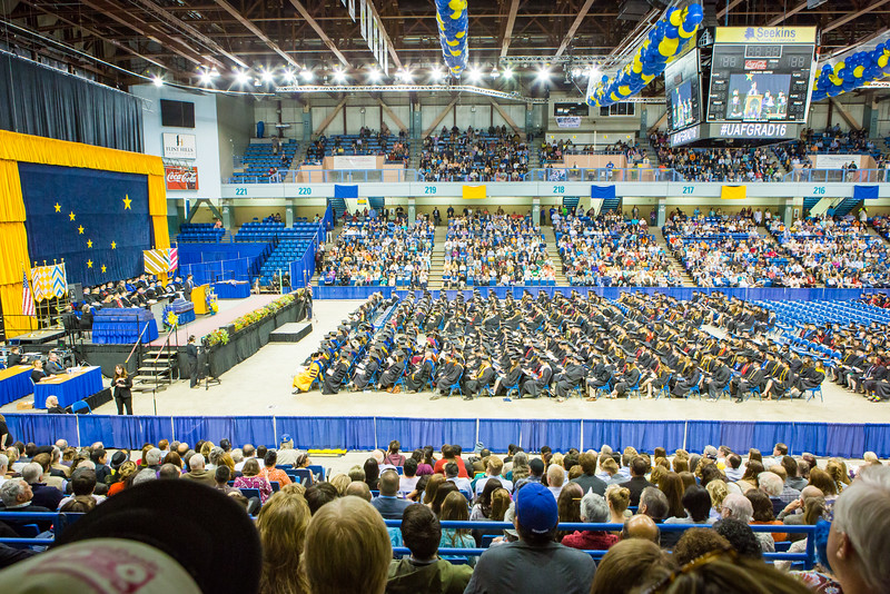 "Nearly 600 students crossed the stage to receive a certificate or degree during the 94th commencement ceremony Sunday, May 8, 2016, at the Carlson Center.  <div class=""ss-paypal-button"">Filename: GRA-16-4896-230.jpg</div><div class=""ss-paypal-button-end""></div>"