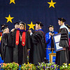 "Trimble Gilbert receives an honorary doctor of laws degree at the commencement ceremony May 8, 2016, at the Carlson Center.  <div class=""ss-paypal-button"">Filename: GRA-16-4896-550.jpg</div><div class=""ss-paypal-button-end""></div>"