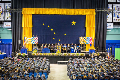 Aaron Schutt, president and CEO of Doyon Limited, was the keynote speaker of the Commencement 2016 ceremony Sunday, May 8, at the Carlson Center.  Filename: GRA-16-4896-453.jpg