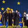 "Jacqueline A. Richter-Menge receives an honorary doctor of science degree at the commencement ceremony May 8, 2016, at the Carlson Center.  <div class=""ss-paypal-button"">Filename: GRA-16-4896-560.jpg</div><div class=""ss-paypal-button-end""></div>"