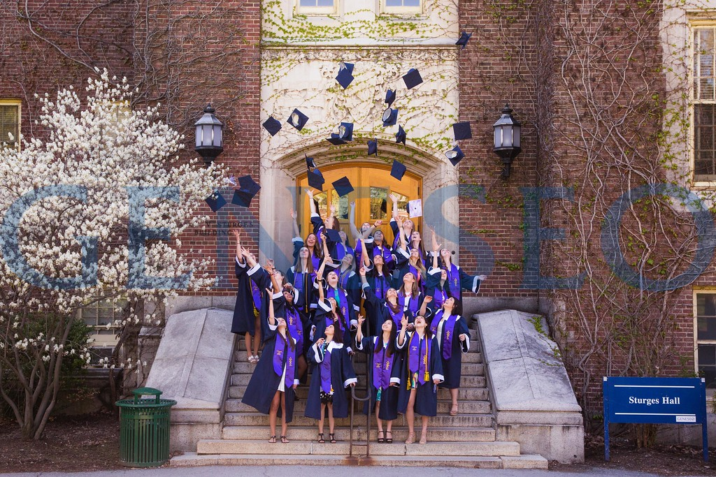 Delta Phi Epsilon (DPhiE) pre commencement photos pictures KW