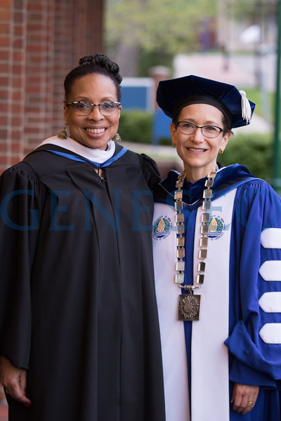 151st Commencement. Graduate Commencement Ceremony President Denise Battles and Beverly Burrell-Moore, Elementary Chief of Schools - Rochester City School District