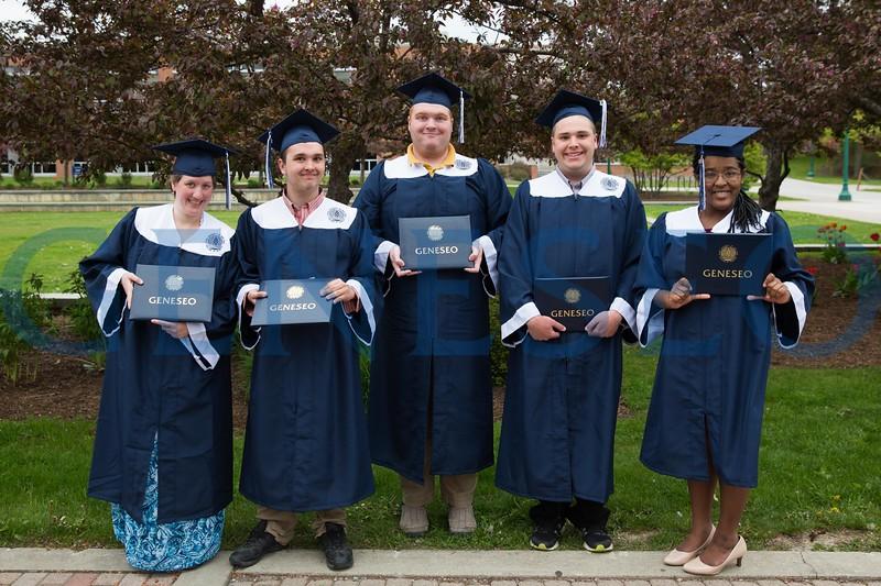 LIVES program graduating seniors left to right: Amanda Cross, Ian Kane, Jesse Claud, Kaleb Kenney and Taylor Nichole Kathey