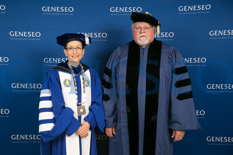 President Denise Battles and John Hugh Churchill