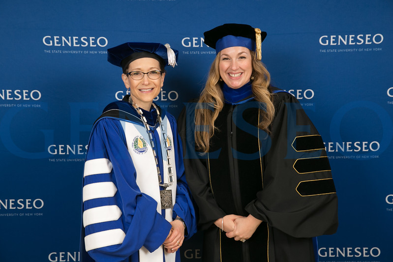 President Denise Battles and Molly Smith Metzler '00